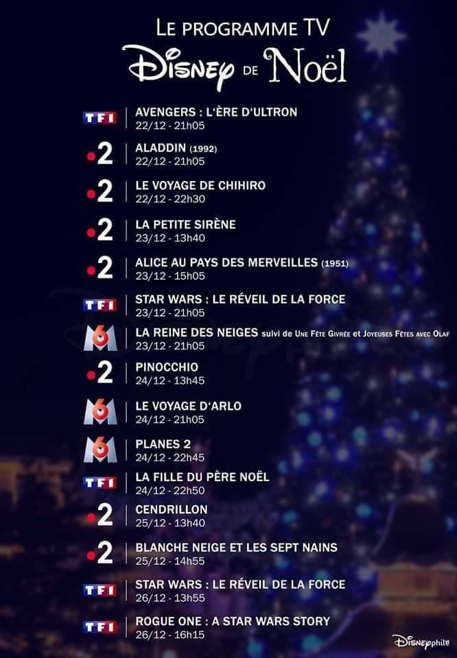 programme TV Noël Disney